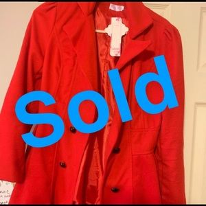 Jackets & Blazers - ❤️🧥Bright red women's trench coat🧥❤️